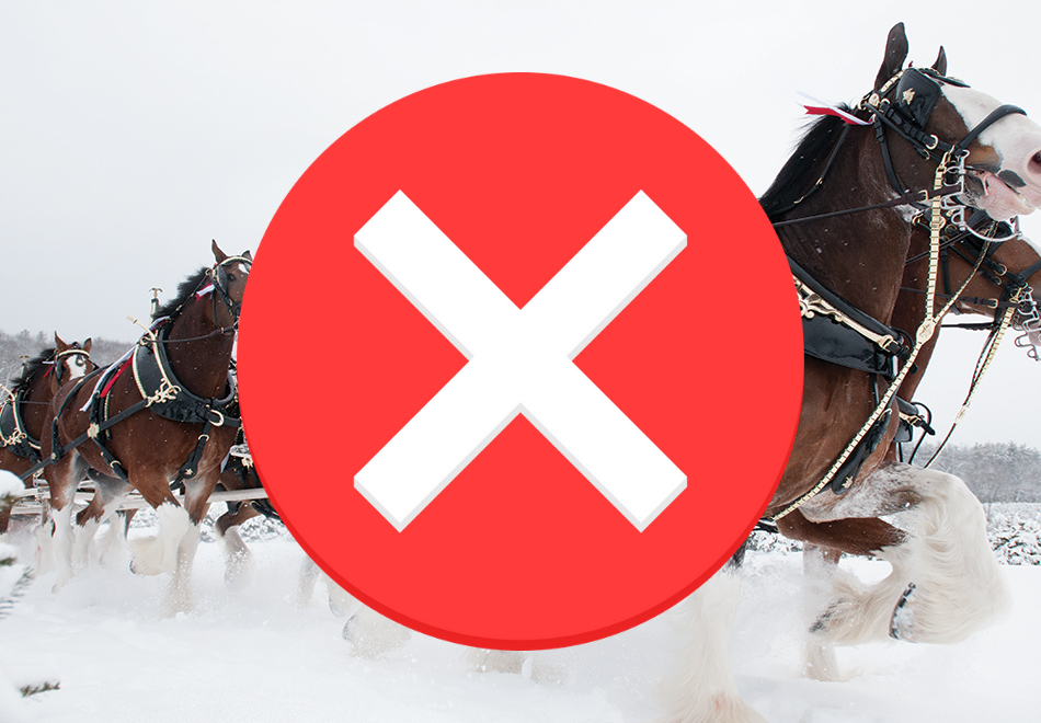 Clydesdales Cancelled